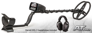 Garrett AT Pro Underwater Waterproof Metal Detector & MS-2 Headphones