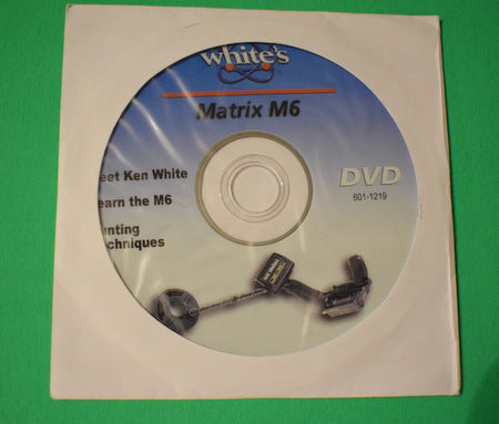 White's M6 Metal Detector CD / As New