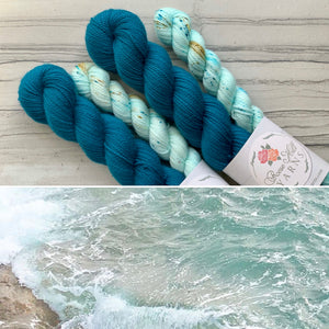 Upside Down  Seaglass Half skein set- Fingering