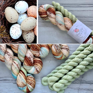April Yarn Club Quail Eggs.