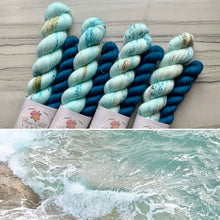 Load image into Gallery viewer, SeaFoam Seaglass Half skein set- Fingering