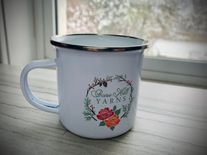 Rose hill yarns Christmas mug