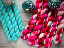 Load image into Gallery viewer, Holiday Peppermint Half skein set- Fingering