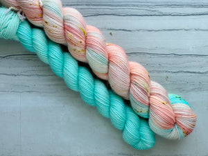 Mermaid Wishes  Half skein set- Fingering