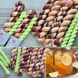 Peach Ice Tea Half skein set- Fingering