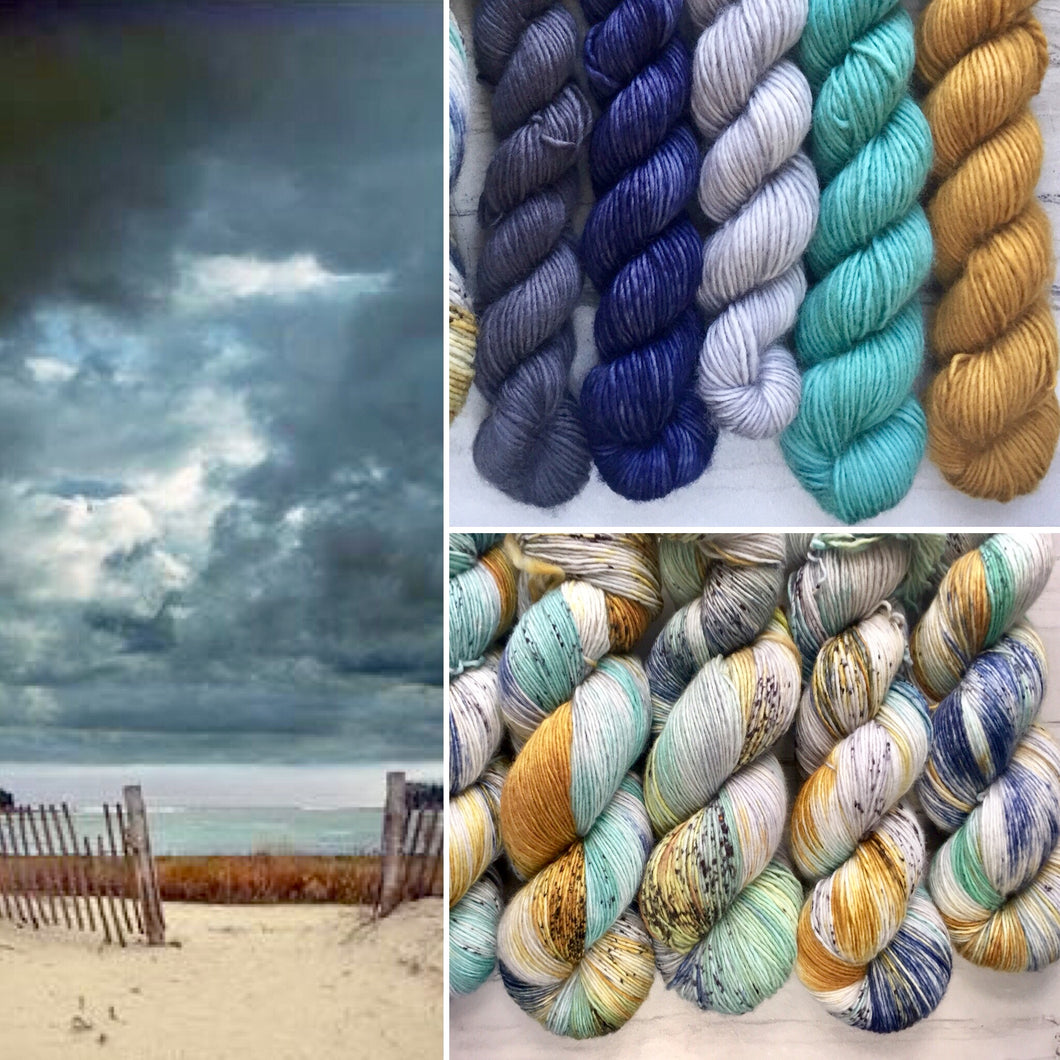 Stormy Dawn shawl kit- Single ply