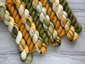 Sunflower Power Half skein set- Fingering