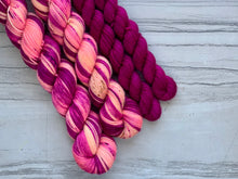 Load image into Gallery viewer, Tiptoe Through The Tulip   Half skein set- Fingering