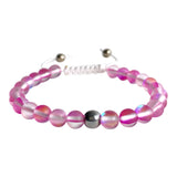 Hot Pink Mystical Aura Quartz Adjustable Bracelet