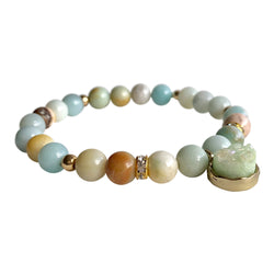 Amazonite Truth and Courage Mint Druzy Bracelet