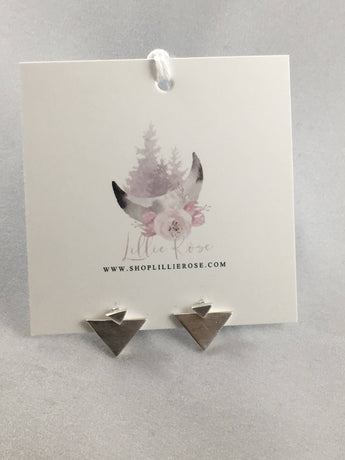 Divine Connection Tiny Triangular Earrings
