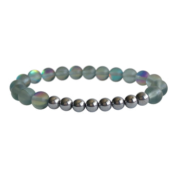 Grey Mystical Aura Quartz Bracelet
