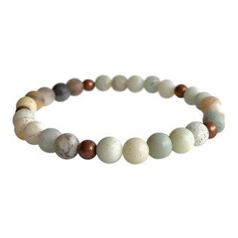 Amazonite Truth and Courage Layering Bracelet