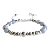 Whole Soul Affair Blue Lace Agate Adjustable Bracelet