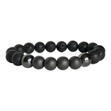Hematite and Black Lava Grounded Bracelet