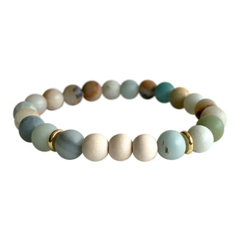 Amazonite Truth and Courage Aromatherapy Bracelet