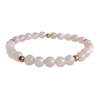 Rose Quartz Love Layering Bracelet