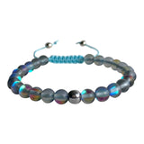 Grey Mystical Aura Quartz Adjustable Bracelet