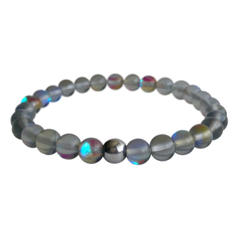 Tiny Grey Mystical Aura Quartz Bracelet