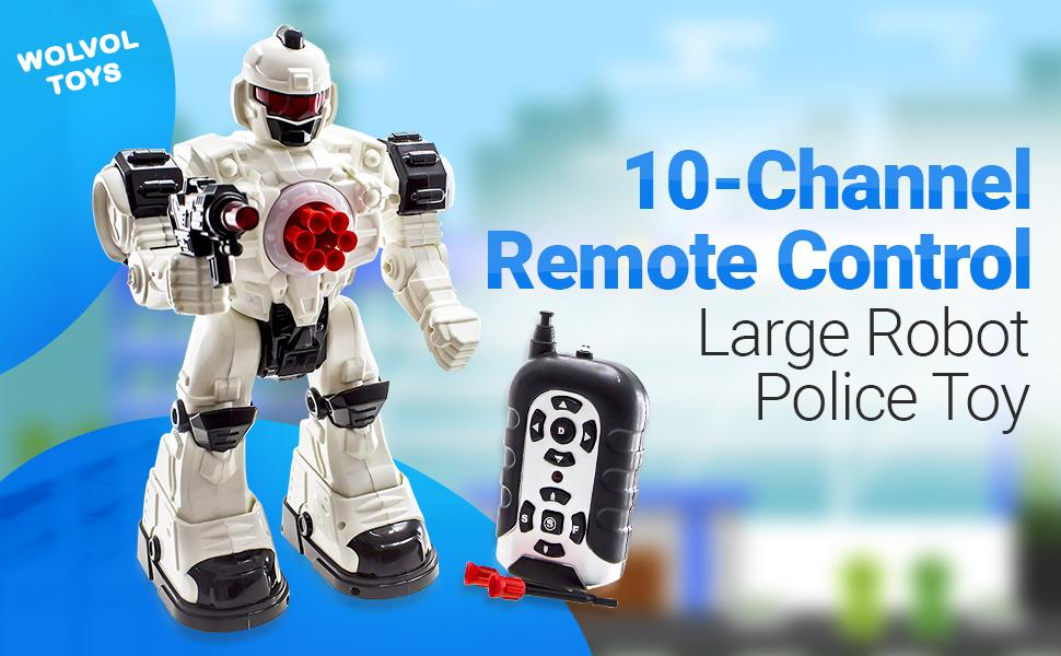 Wolvolk Remote Control Police Robot