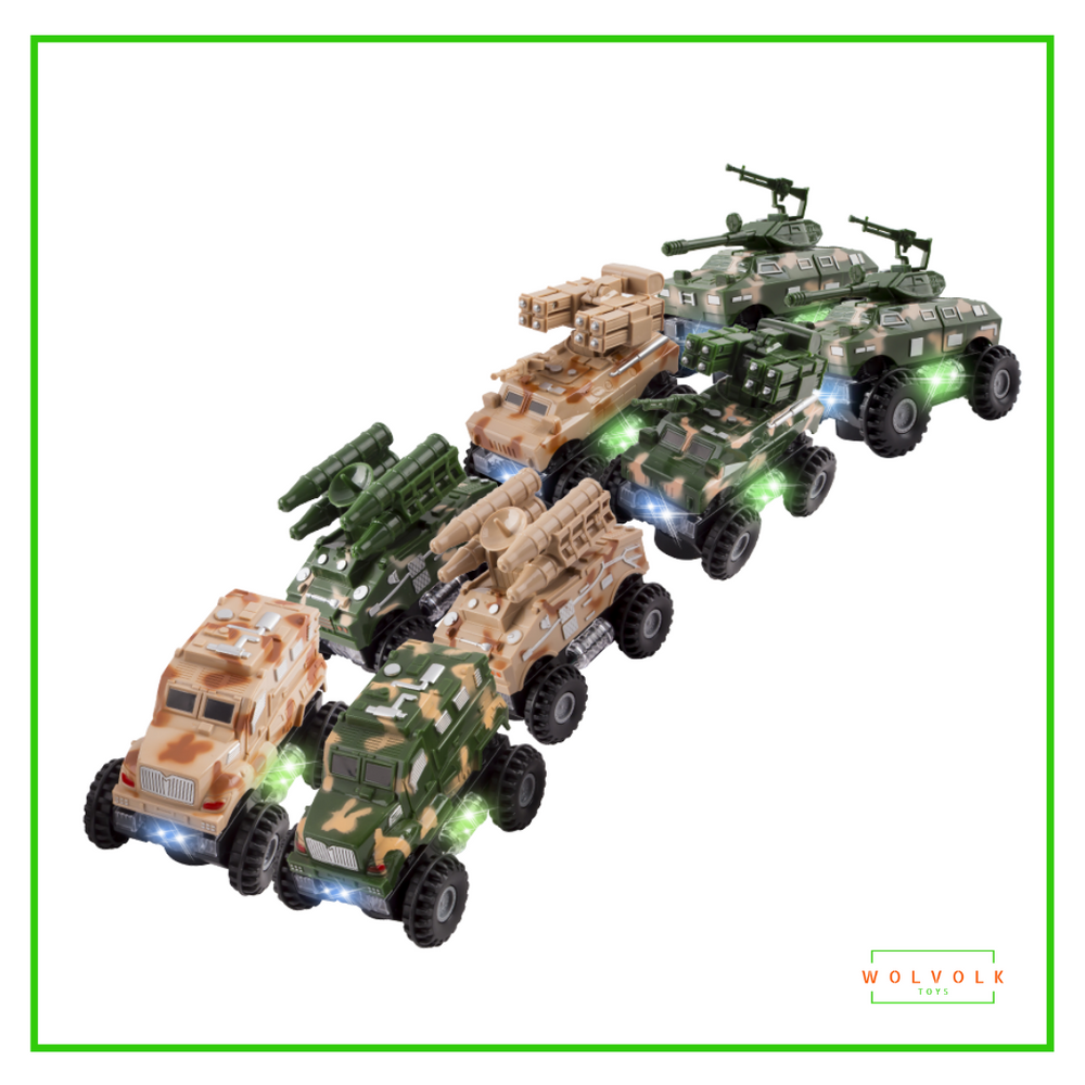 Wolvolk Set of 8 Military Trucks