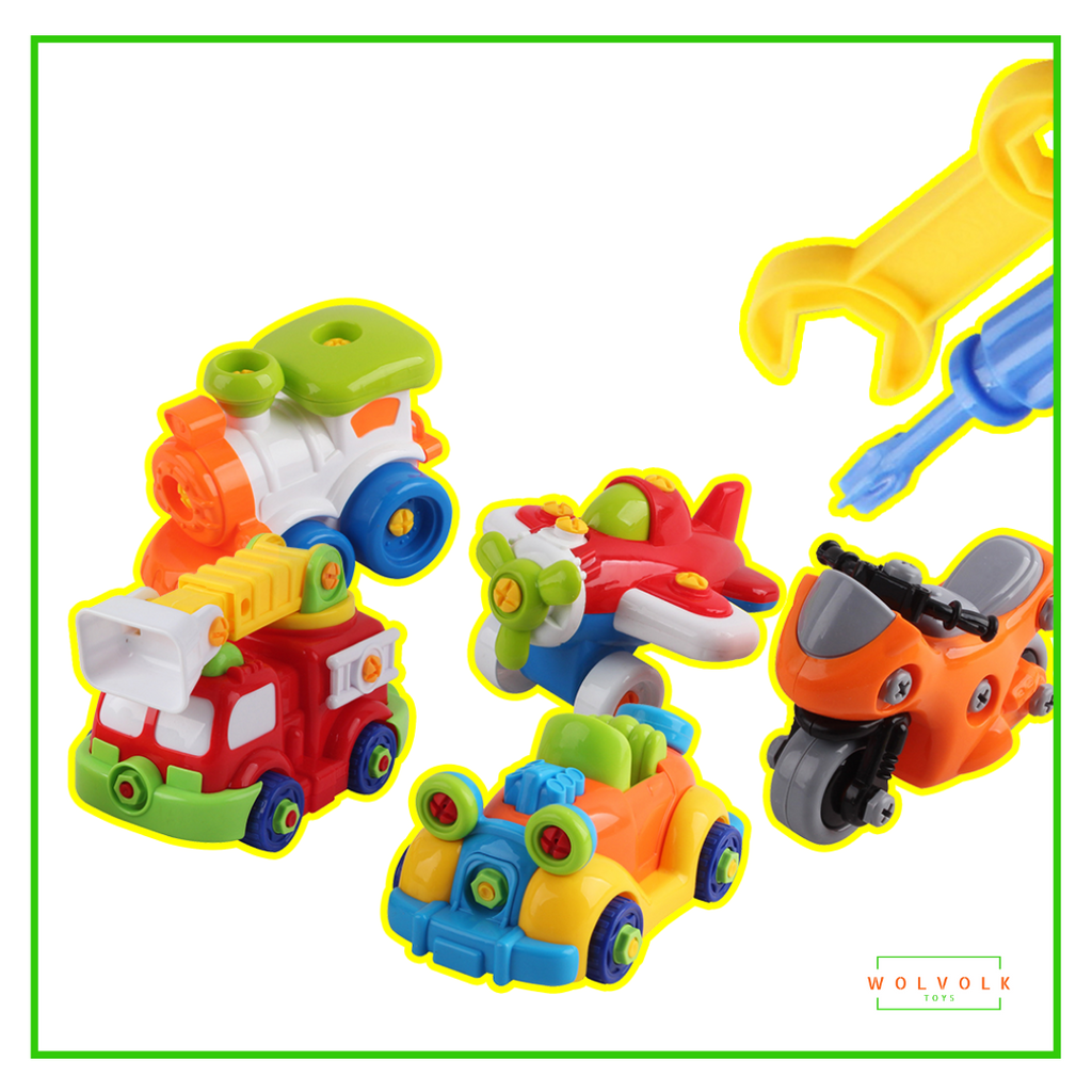 Wolvolk Take-A-Part Vehicles Set