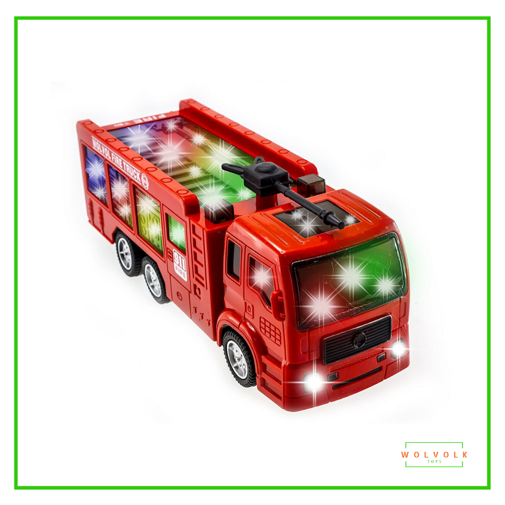 Wolvolk Fire Truck with 3D Lights and Sirens