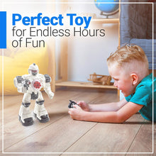 Load image into Gallery viewer, WolVol (Large Version) 10 Channel Remote Control Robot Police Toy with Flashing Lights and Sounds, Great Action Toy for Boys