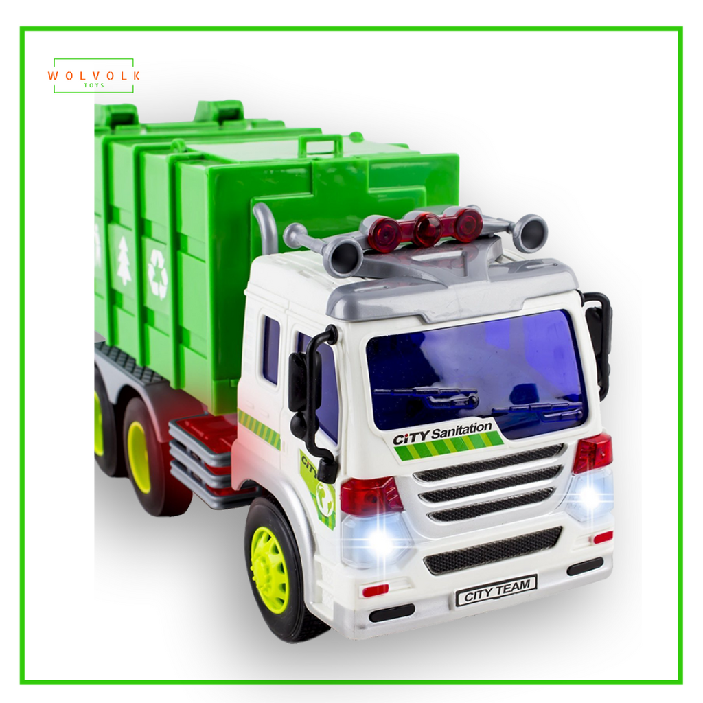 Wolvolk Friction Powered Toy Garbage Truck