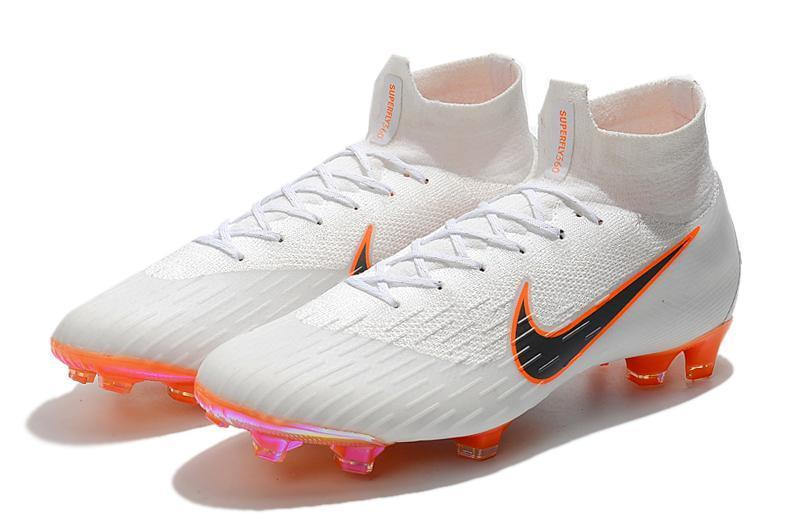 new product 25221 5a6e5 Nike Mercurial Superfly VI 360 Elite FG Soccer Cleats White Black