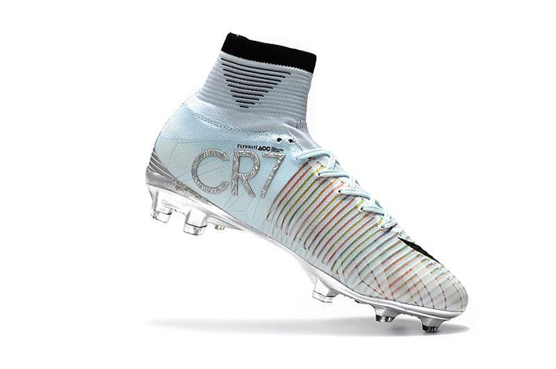 ccbbc75ec02ce ... Nike Mercurial Superfly V CR7 FG Soccer Cleats Tint Black White Chrome  - JungleBoots ...