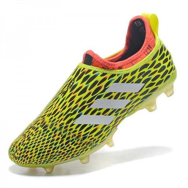 1faacb481f2453 Adidas Glitch Skin 17 FG Soccer Shoes Fluorescent Green White Red