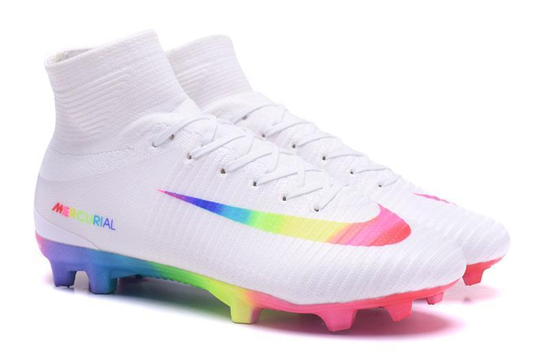 102454b8e ... Nike Mercurial Superfly V FG Soccer Cleats True White Colourful -  JungleBoots ...