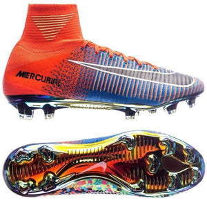 newest collection d2df6 aa495 Nike Mercurial Superfly V EA Sport FG Soccer Cleats Orange Colorful
