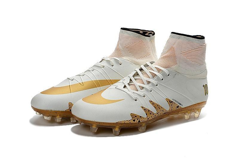 best sneakers 5df55 c05e6 Nike Hypervenom Phantom II Neymar X Jordan FG Soccer Cleats White Gold