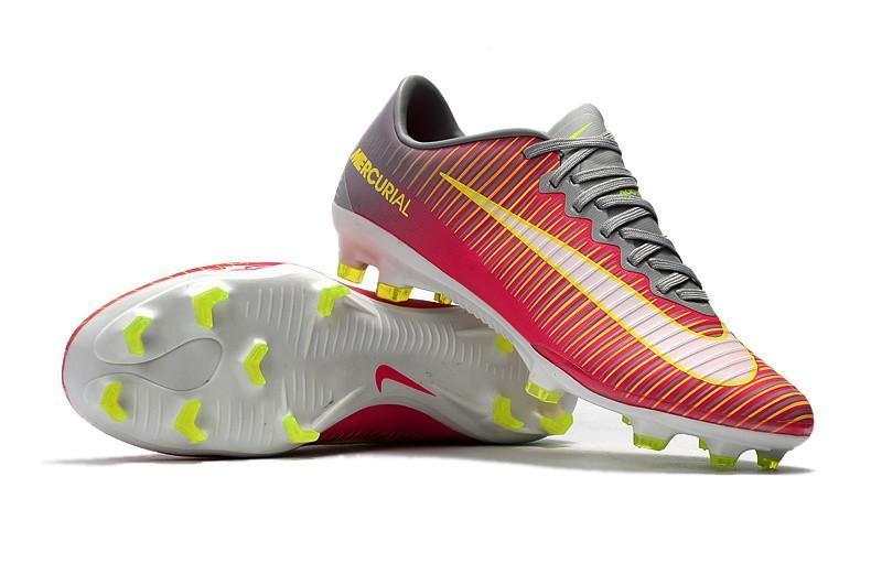 best service bf937 7fa18 Nike Mercurial Vapor XI FG Soccer Cleats Red Grey Yellow White