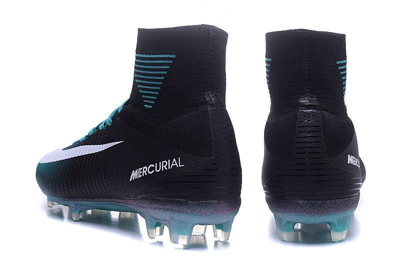 online retailer 32750 fa362 Nike Mercurial Superfly V FG Soccer Cleats Blue Black White