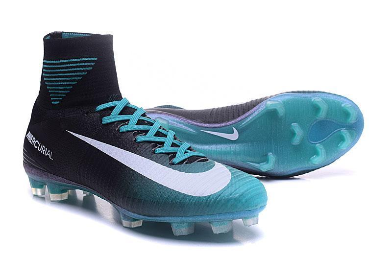 hot sale online 51705 f2dec ... Nike Mercurial Superfly V FG Soccer Cleats Blue Black White -  JungleBoots ...