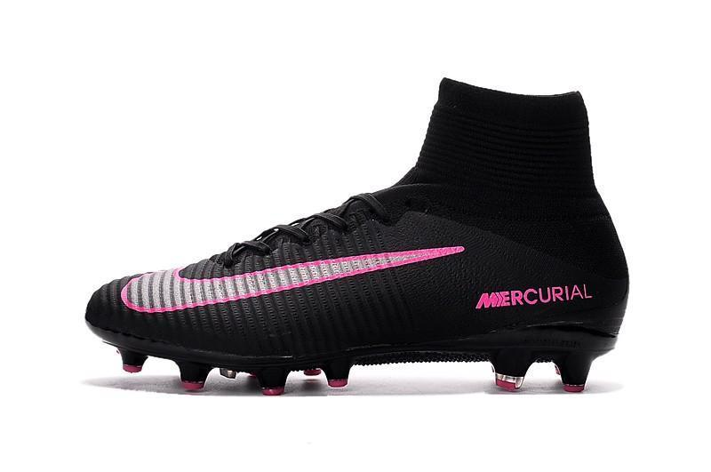 sale retailer 41cdf 6be31 Nike Mercurial Superfly V FG Soccer Cleats Black Pink Blast
