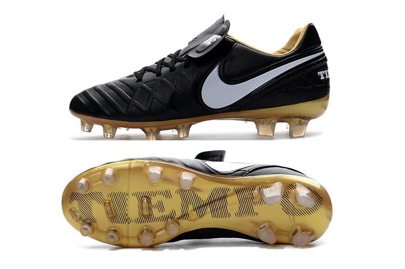 best cheap 3ad75 67841 Nike Tiempo Legend VI FG Soccer Cleats Black White Metallic Gold
