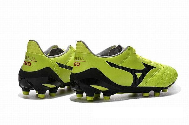 best service 1fed3 ae519 Mizuno Morelia Neo II FG Soccer Cleats Electric Green Black