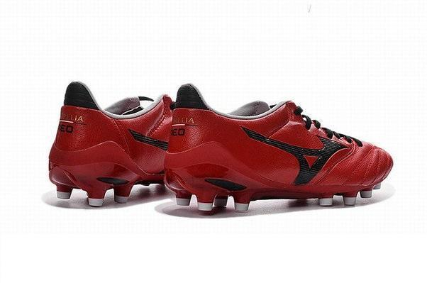 purchase cheap f99e2 5858c Mizuno Morelia Neo II FG Soccer Cleats Red Black