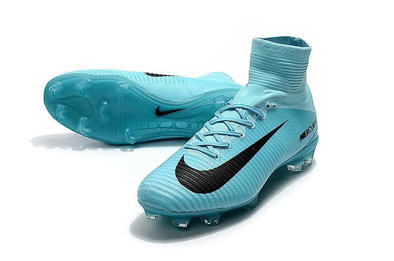 9df045ad205 Nike Mercurial Superfly V FG Soccer Cleats Moon Blue Black