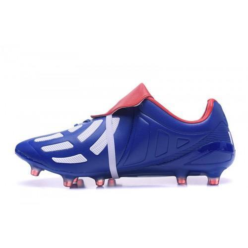 plus de photos f8242 9dd0b Adidas Predator Mania Champagne FG Soccer Cleats Blue White Red