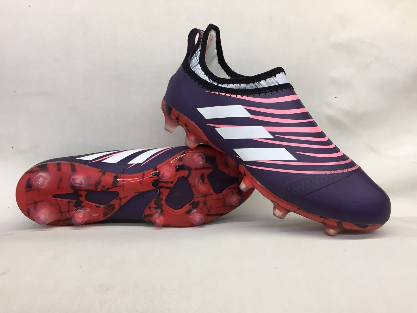 d54b85cbb9f Adidas Glitch Skin 17 FG Soccer Shoes Purple White Red Pink