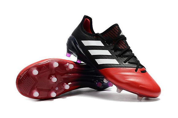 Adidas ACE 17.1 Leather FG Football Cleats Red White Black - JungleBoots e102a324d
