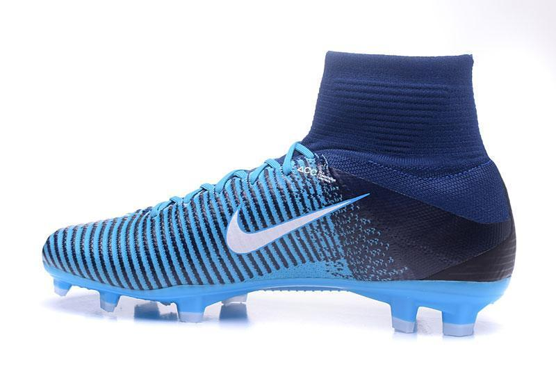 2578c2fa83f Nike Mercurial Superfly V FG Soccer Cleats Blue Dark White