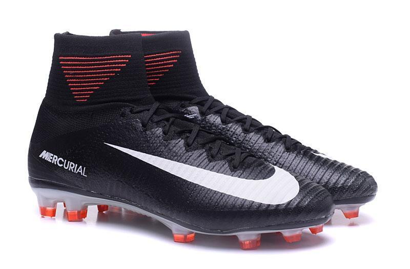 371f2fcef ... Nike Mercurial Superfly V FG Soccer Cleats Black Orange White -  JungleBoots ...