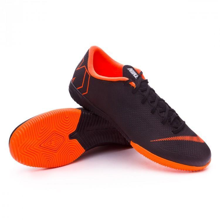 save off db2aa 1804d Nike Mercurial VaporX XII Academy IC Soccer Cleats Total Black Orange