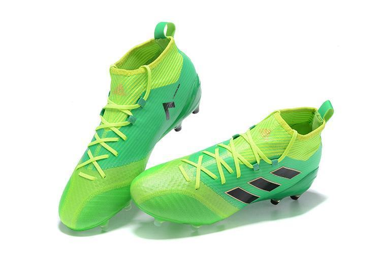 official photos 9cfc7 99b5a Adidas ACE 17.1 Primeknit FG Soccer Cleats Solar Core Green Black